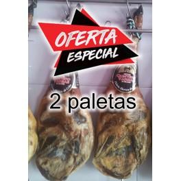 Oferta 2 paletas Ibéricas Cebo QUINTERO